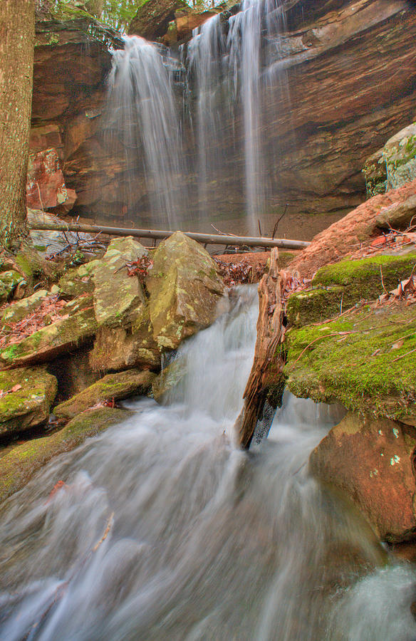 Water Photograph - Cascading Waterfall by Douglas Barnett