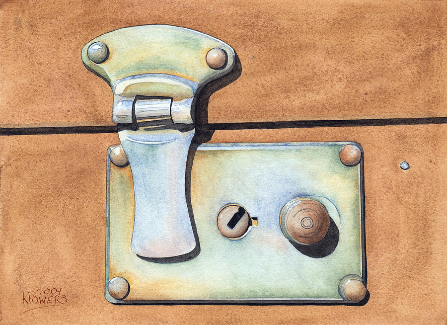 Case Painting - Case Latch by Ken Powers