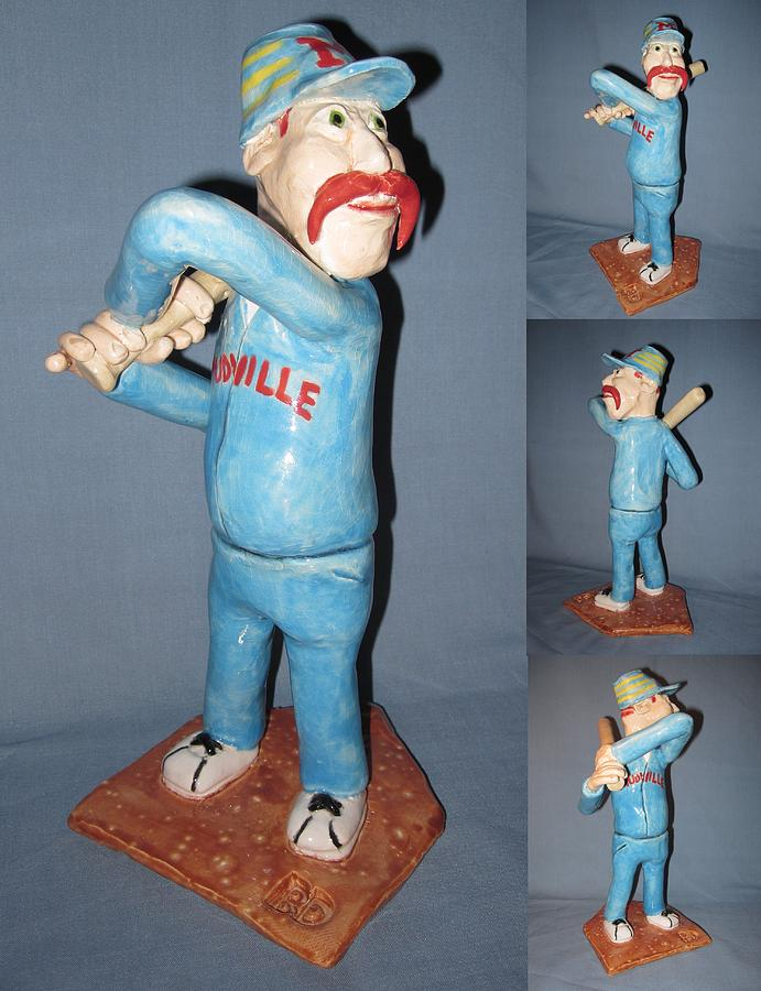 Baseball Sculpture - Casey At The Bat by Bob Dann