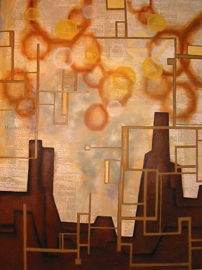 African American History Painting - Cash Moves Everything Around Me by Monica James