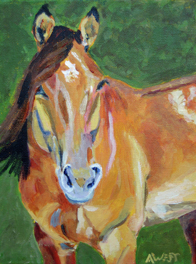 Horse Portrait Painting - Casino by Anne West