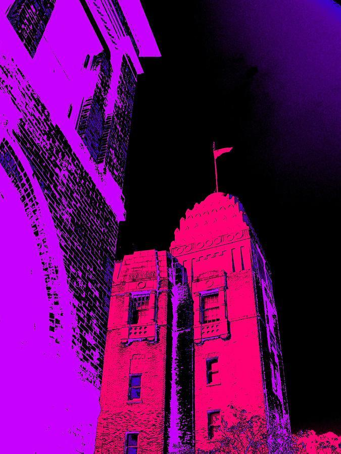 San Antonio Photograph - Casino Building, In Fuschia by Edgar Farrera