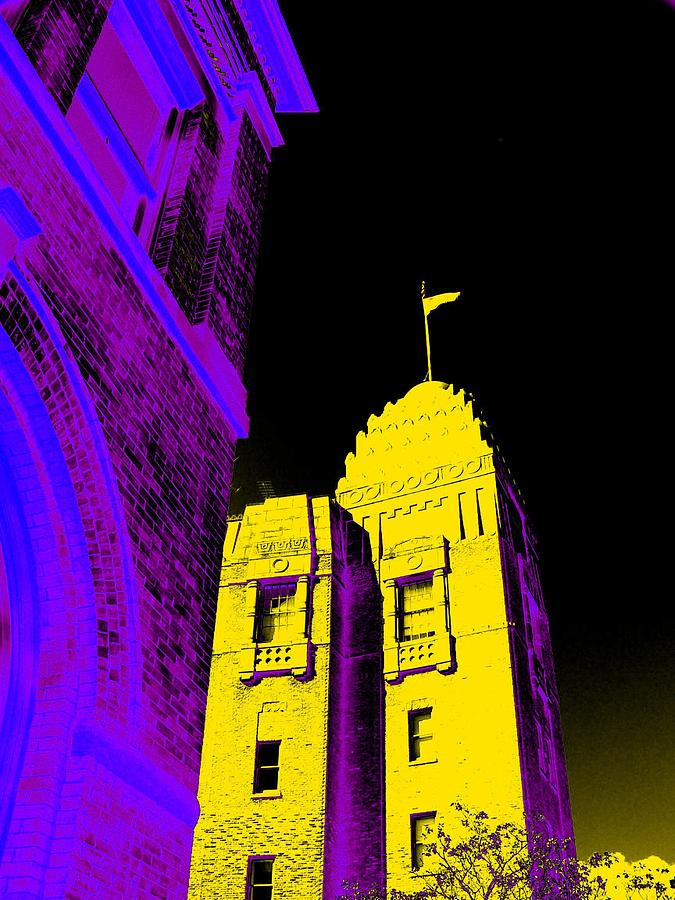 San Antonio Photograph - Casino Building In Yellow by Edgar Farrera
