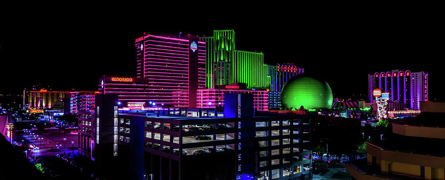 Nevada Photograph - Casinos by TL Mair