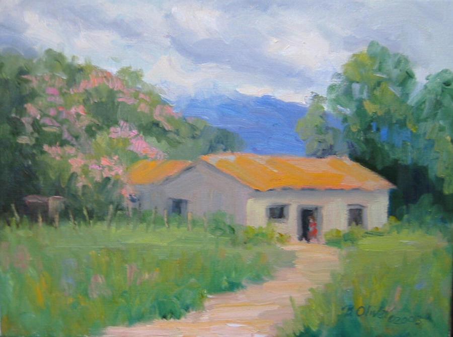 Honduras Painting - Casita De Campo by Bunny Oliver