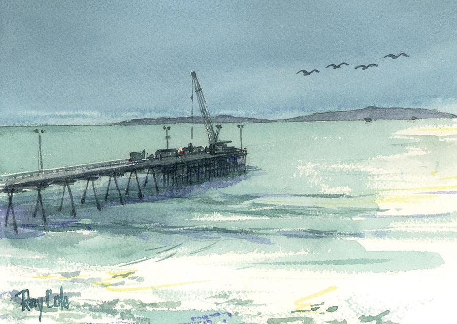 Carpinteria Painting - Casitas Pier 3 by Ray Cole