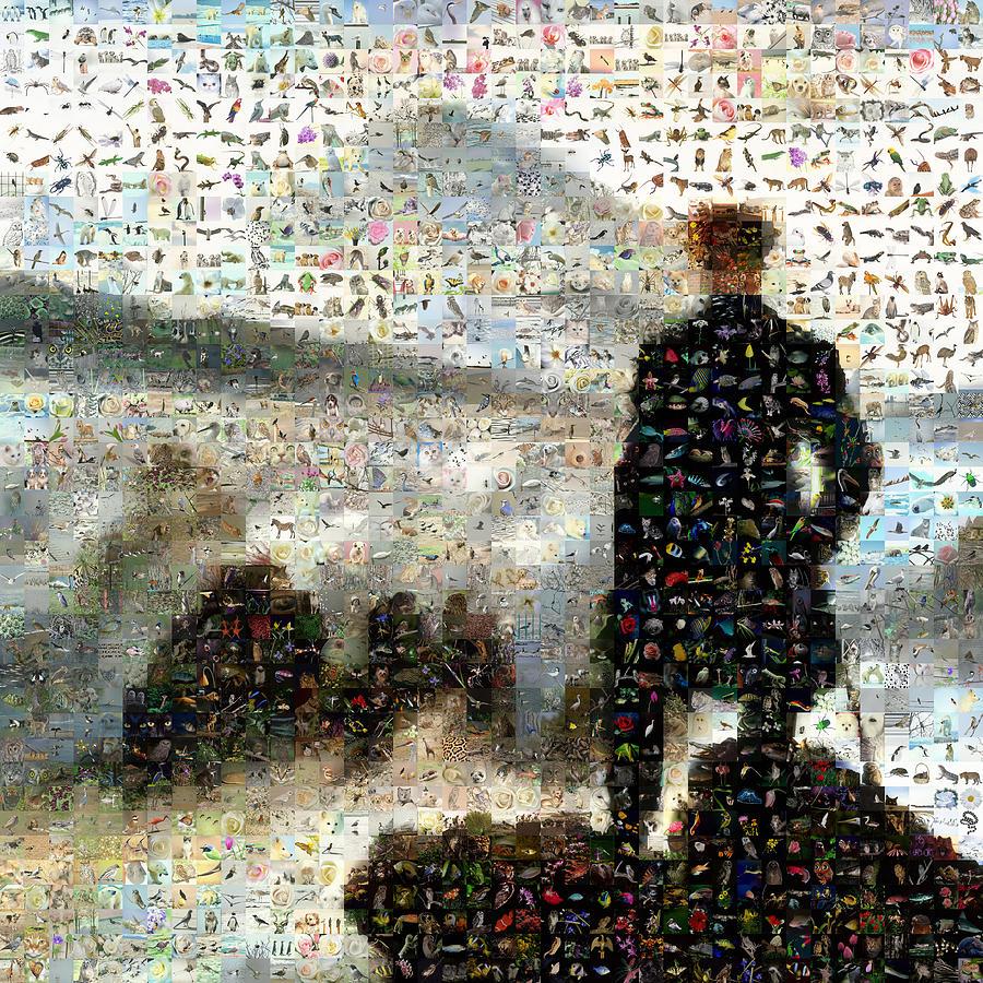 Mosaic Digital Art - Caspar David - The Wall Above The Sea Of Fog by Gilberto Viciedo