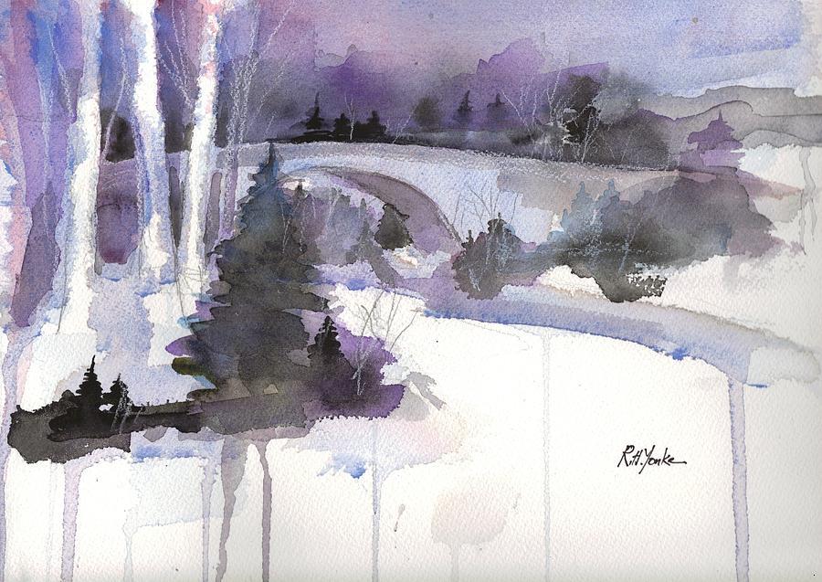 Casselman Bridge Painting - Casselman in Winter by Robert Yonke