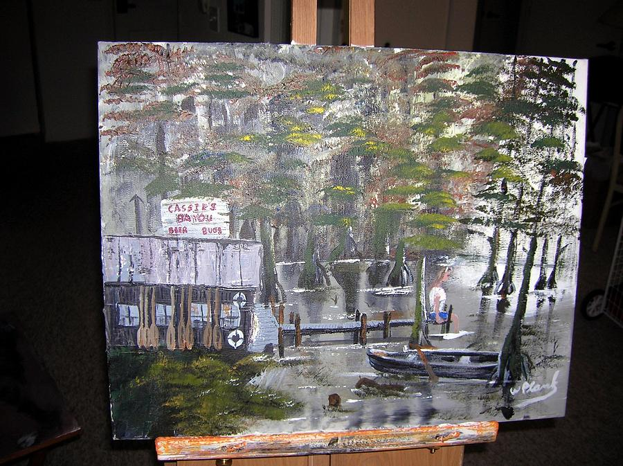 Swamp Painting - Cassies Bayou by William Plank
