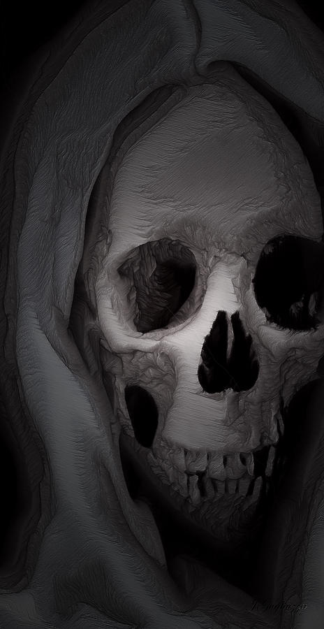 Death Digital Art - Cast In Bone by Jean Gugliuzza