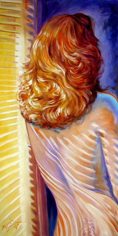 Nude Painting - Cast In Sunlight by Marcia Baldwin