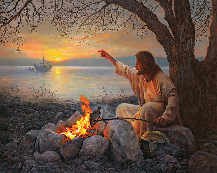 Jesus Painting - Cast Your Nets on the Right Side by Greg Olsen
