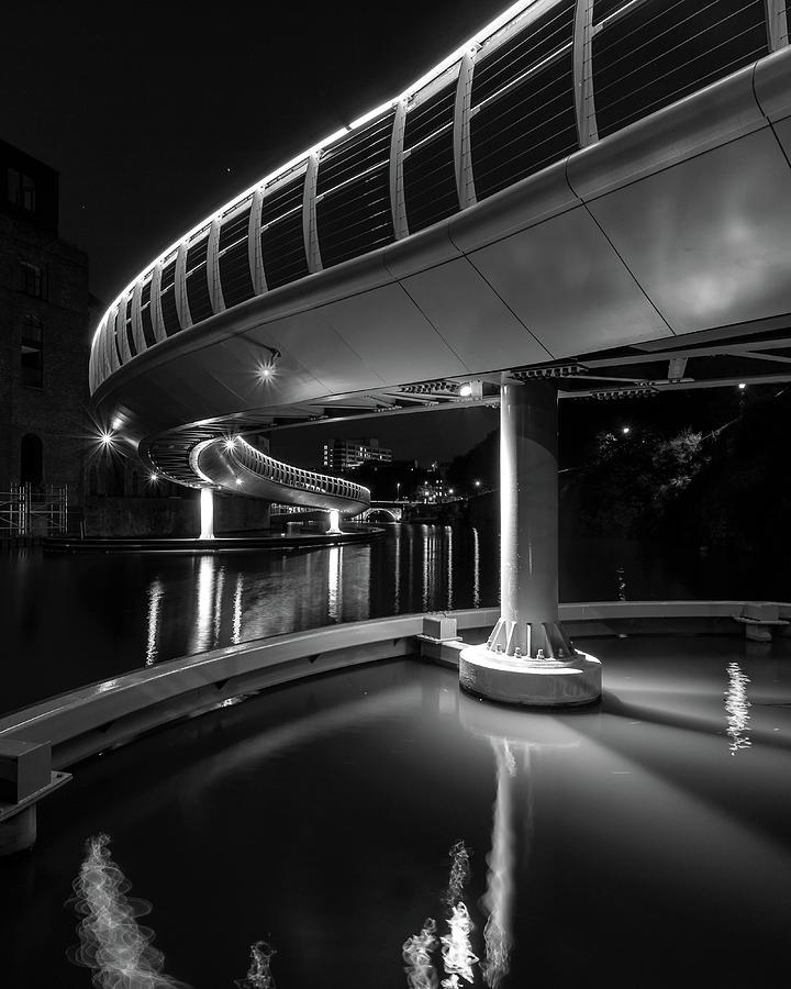 Architecture Photograph - Castle Bridge B By Night Bristol England by Jacek Wojnarowski