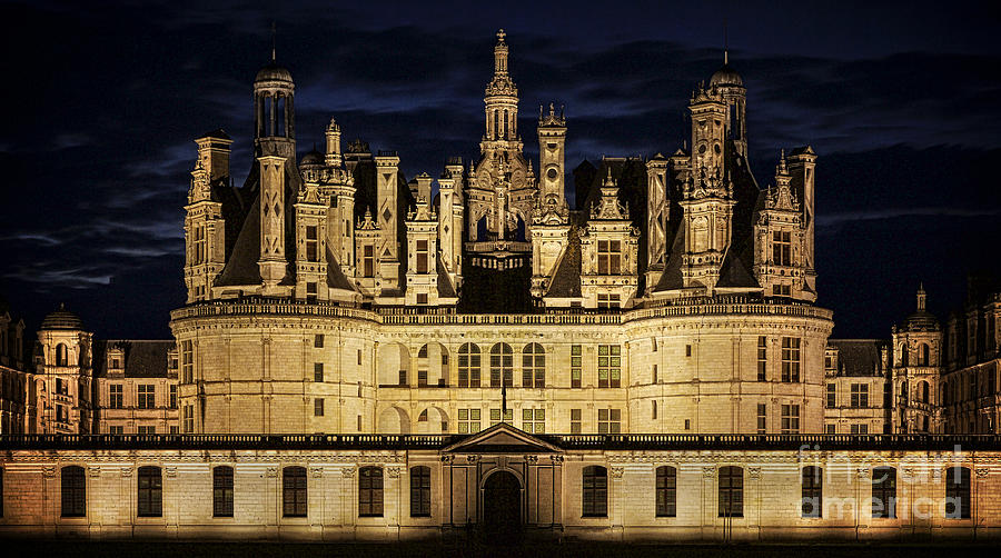 Castle Chambord Illuminated Photograph