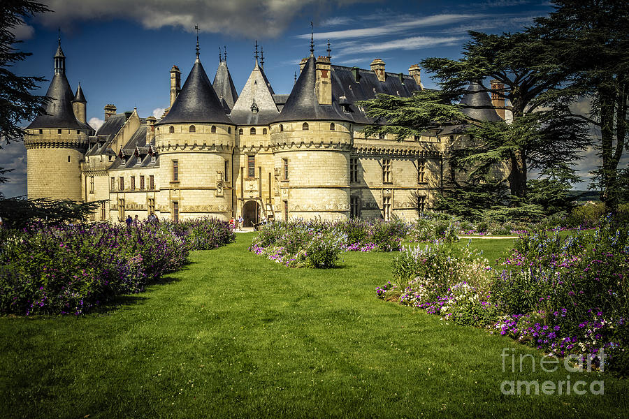Castle Chaumont With Garden Photograph