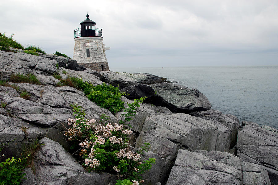 Lighthouse Photograph - Castle Cliff Lighhouse by Alan Lenk