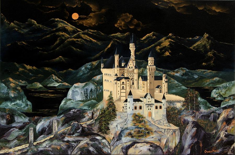 Castles Painting - Castle by Gwen Rose