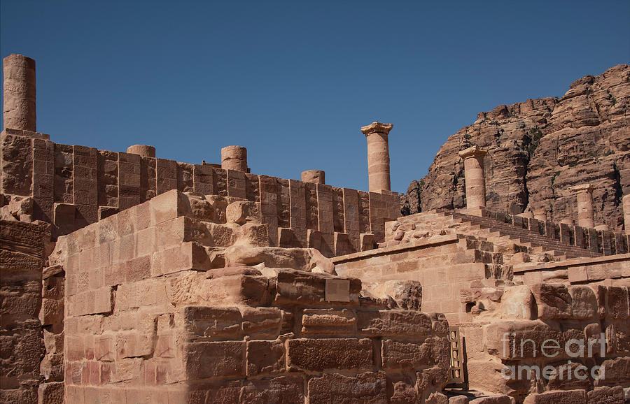 Castle In Petra Photograph by Mae Wertz