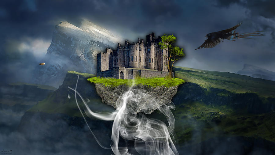 Castle Mixed Media - Castle In The Sky Art by Marvin Blaine