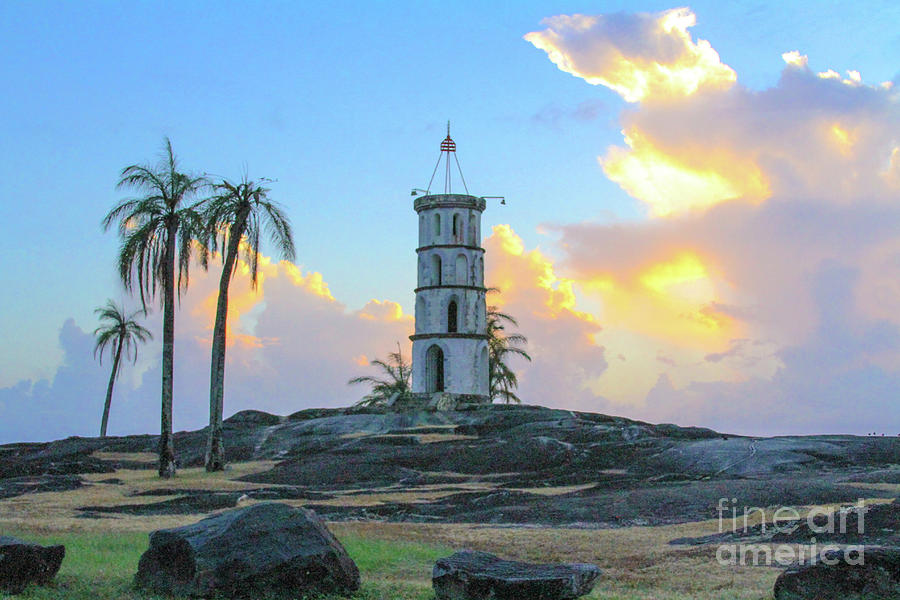 Devil's Island Photograph - Castle in the sky Devils Island by Carmin Wong
