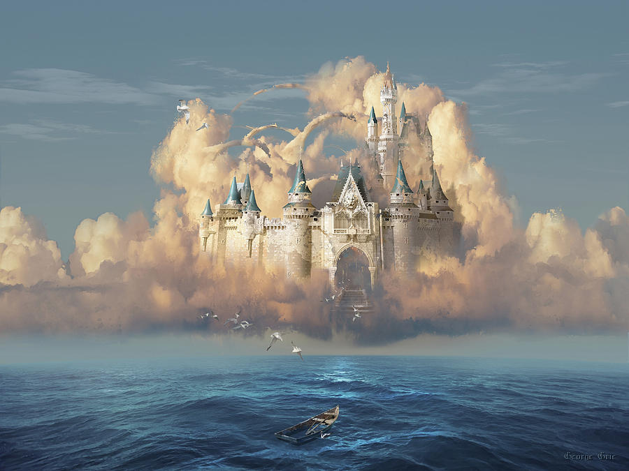Dream Digital Art - Castle in the Sky by George Grie