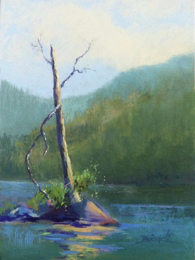 Tree Painting - Castle Lake Snag by Janet Biondi