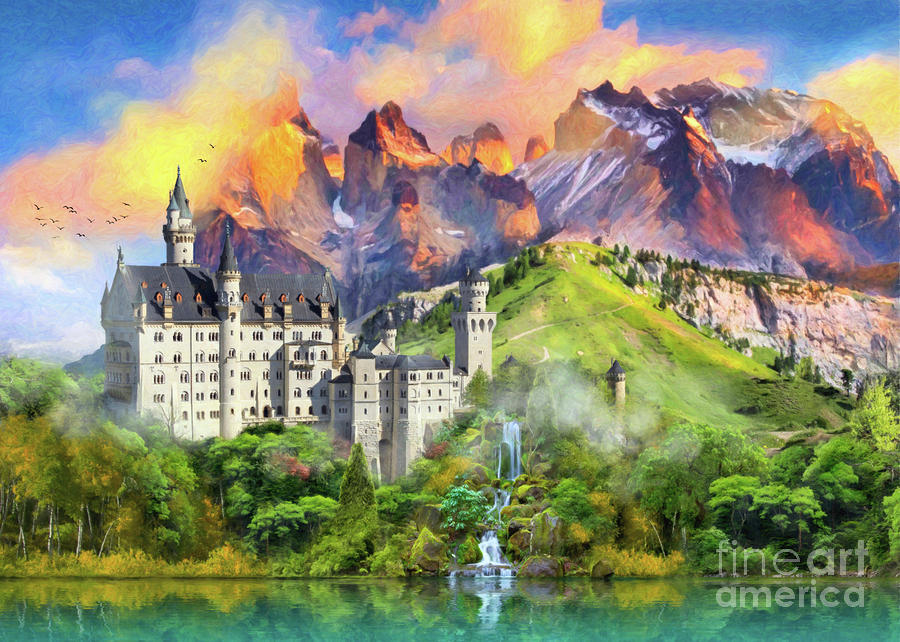 Castle Digital Art - Castle Magic by MGL Meiklejohn Graphics Licensing