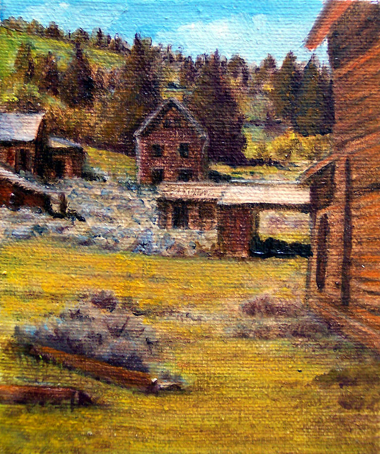 Ghostown Painting - Castle Montana Ghosttown by Evelyne Boynton Grierson