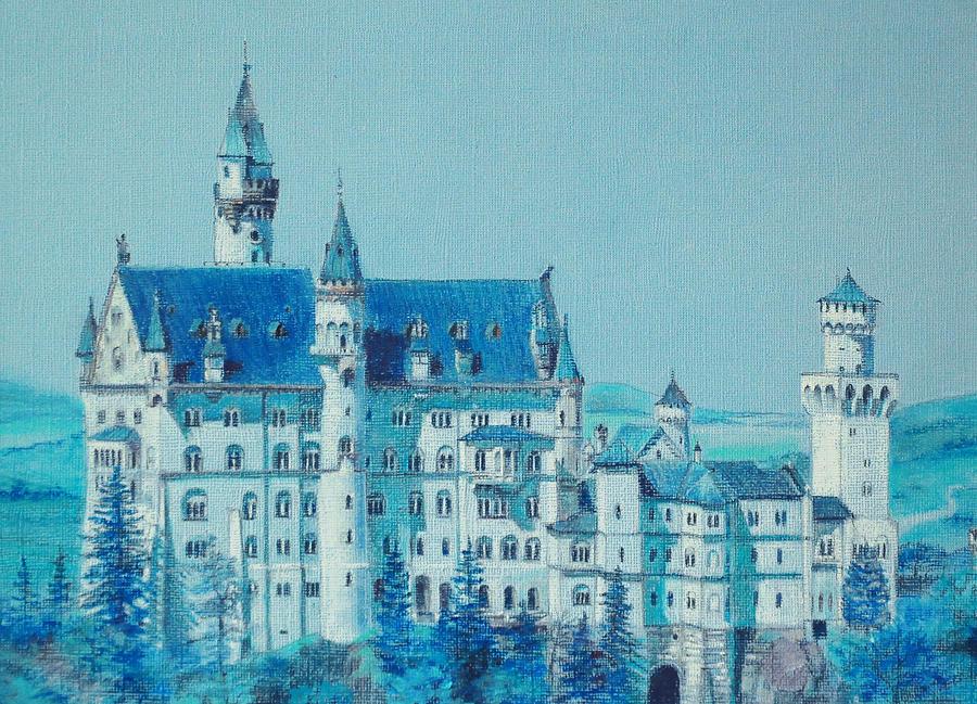 Castle Painting - castle Neuswanstein by Radchenko Julia