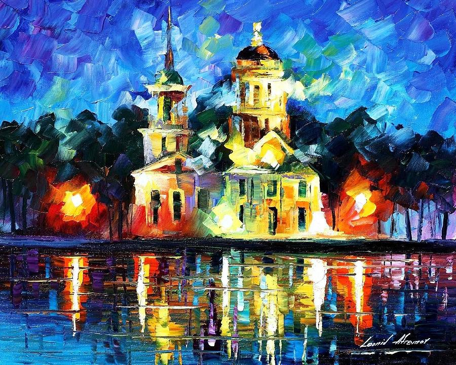 Castle Of The Kings Palette Knife Oil Painting On Canvas