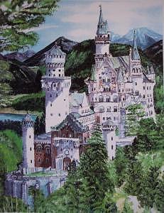Castle Print - Castle Reflection by Rose Wood
