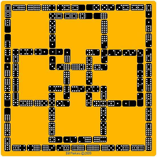 Castle Square Crossing Puzzle Key by Bill Perkins