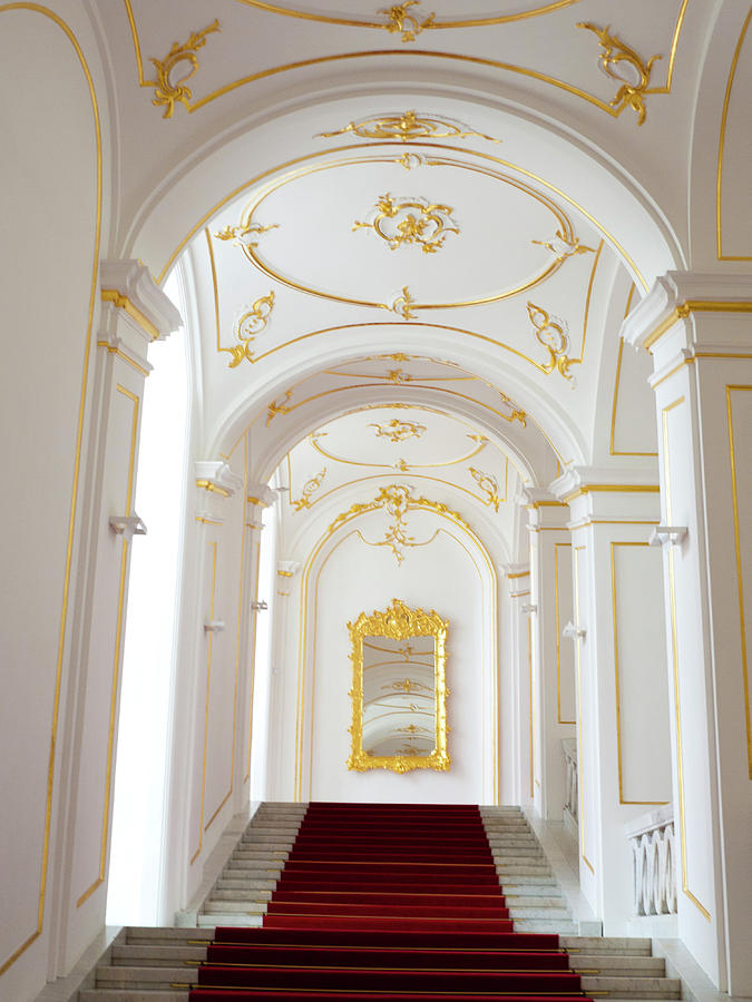 Bratislava Photograph - Castle Stairwell by Rae Tucker