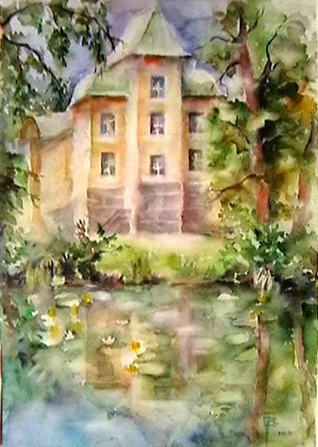 Watercolor Painting - Castle by Tatyana Berestov