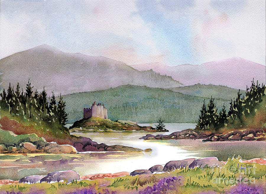 Castle Painting - Castle Tioram  by Anthony Forster