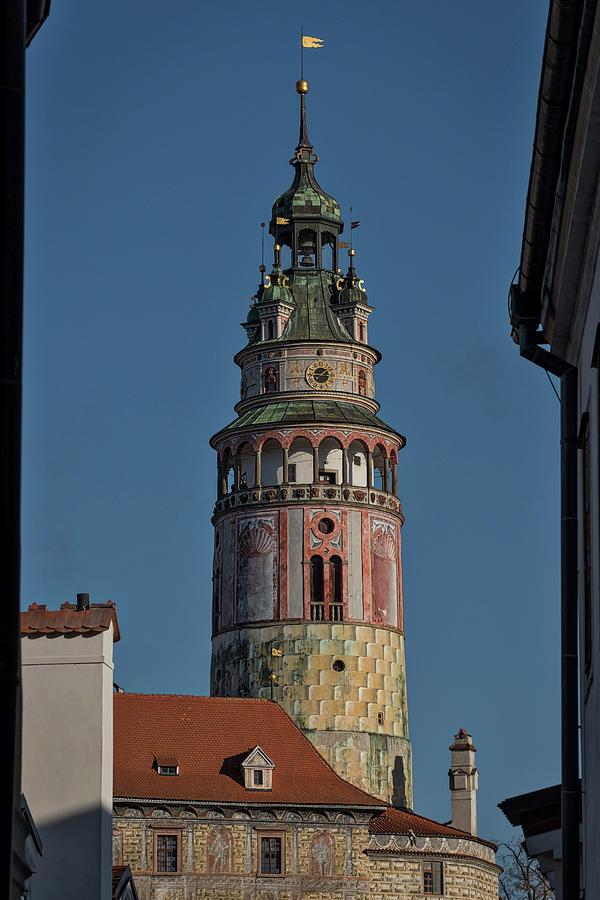 Cesky Krumlov Photograph - Castle Tower Cesky Krumlov - Czechia by Stuart Litoff