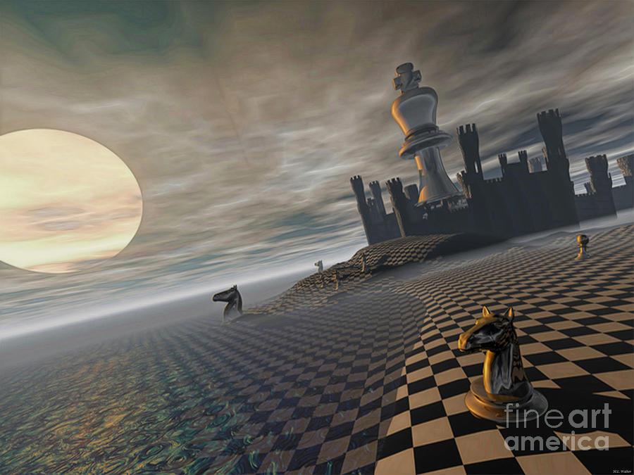 Castles Mixed Media - CastleKeep by ML Walker