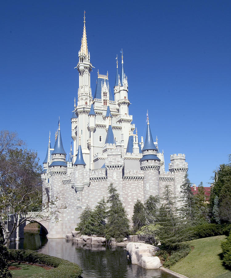 Walt Disney World Photograph - CastleSquare104 by Charles  Ridgway