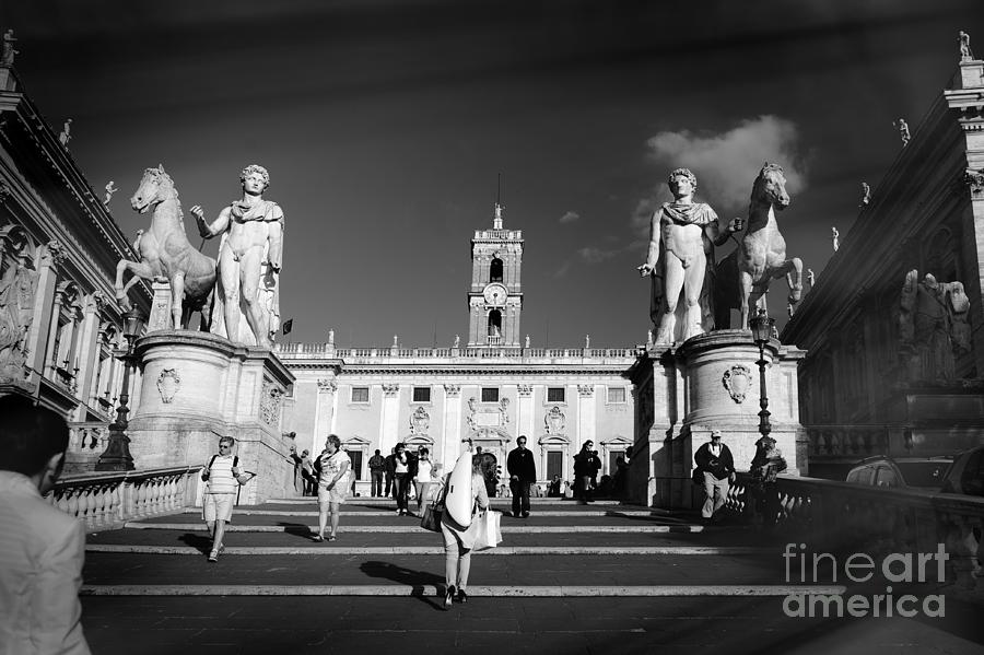 Rome Photograph - Castor and Pollux in Rome, Italy. by Stefano Senise