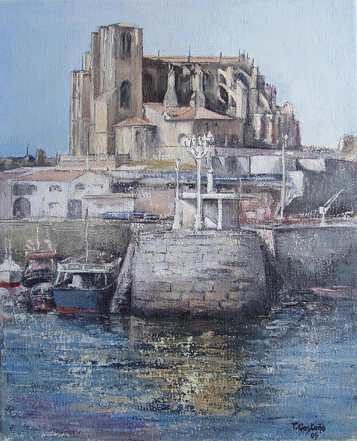 Castro Painting - Castro Urdiales by Tomas Castano