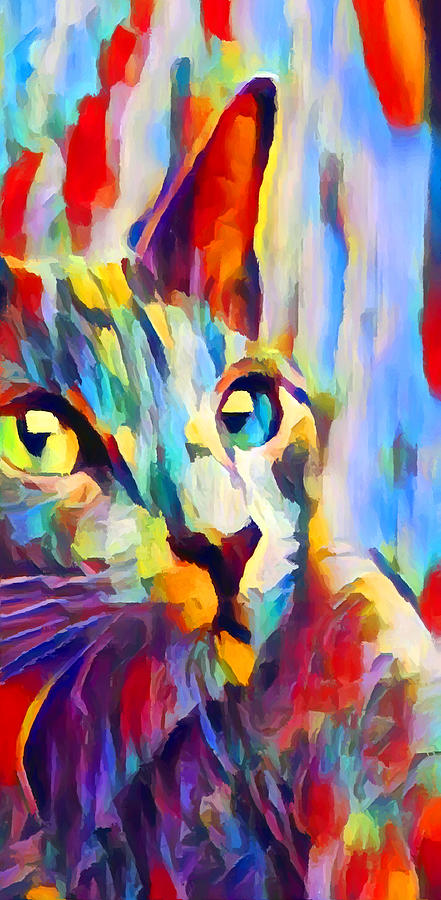 Cat Painting - Cat 3 by Chris Butler