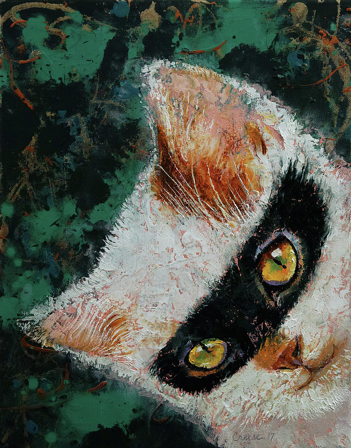 Cat Painting - Cat Burglar by Michael Creese