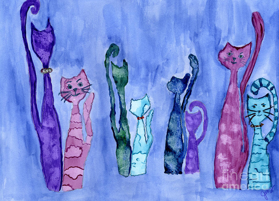 Cat Couples by Julia Stubbe