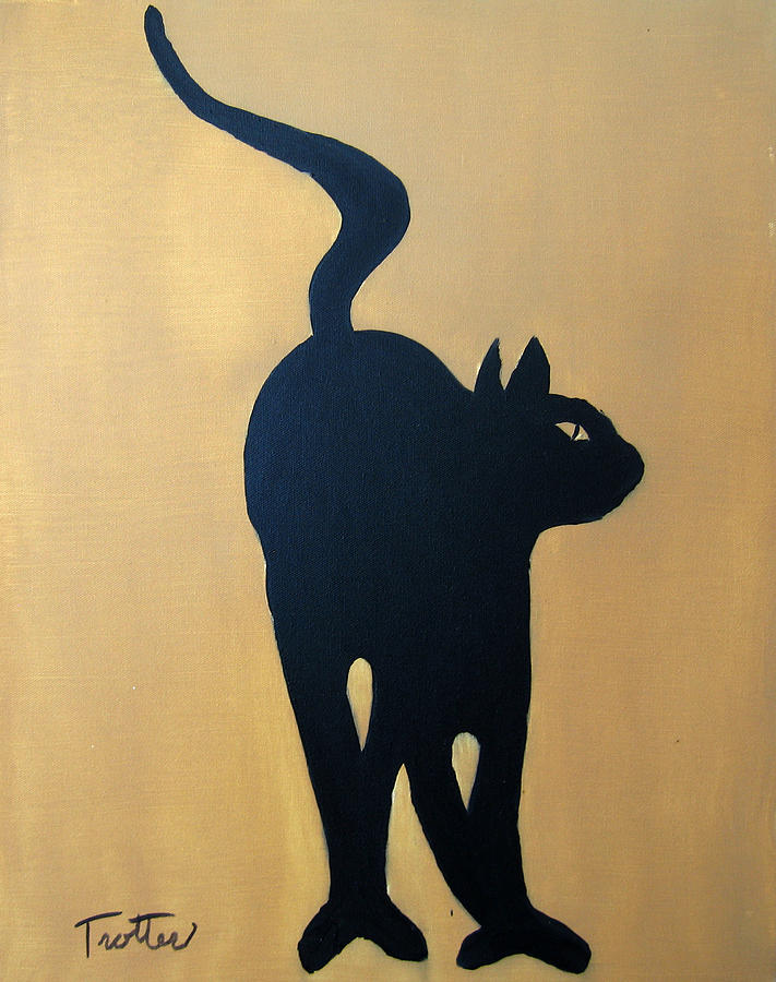 Cat Painting - Cat Dance..... Optical Illusion by Patrick Trotter