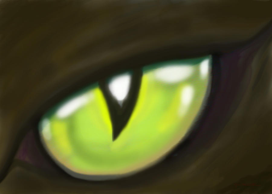 Cat Painting - Cat Eye by Kevin Middleton