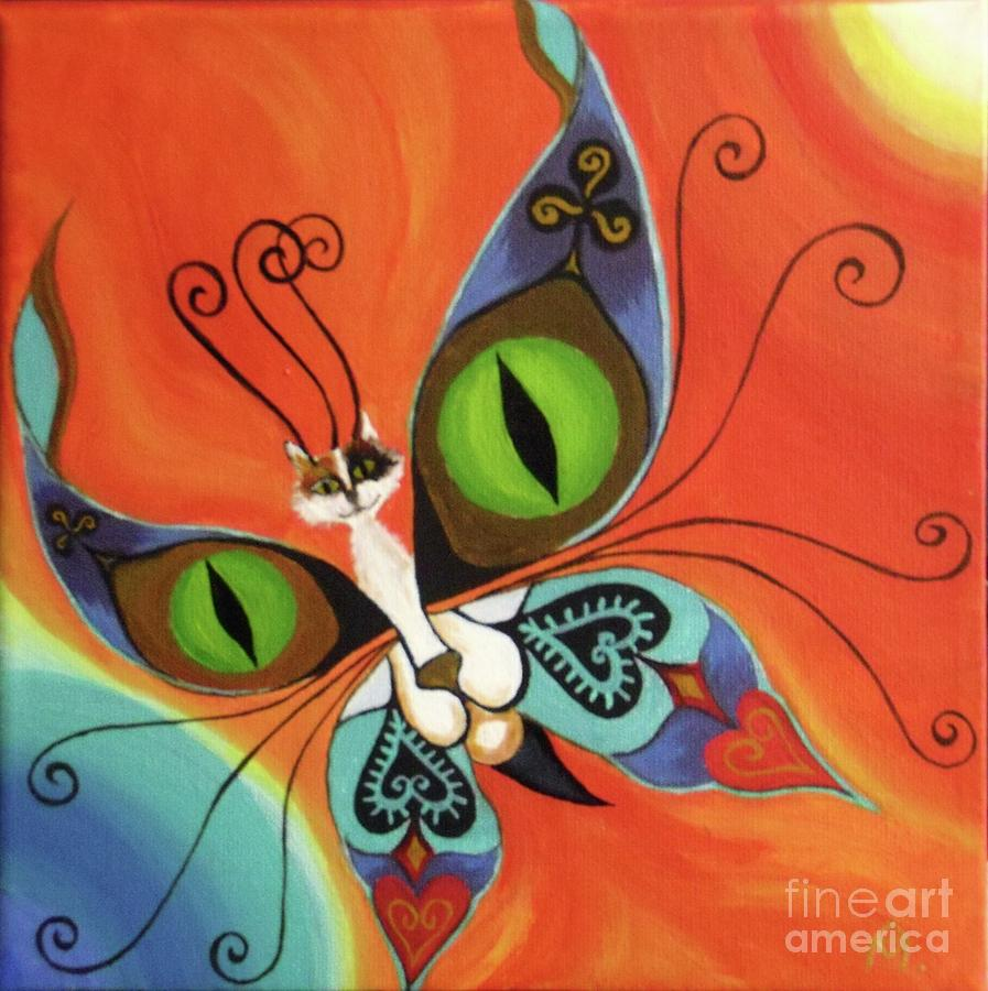 Butterfly Painting - Cat-eyes Butterfly by Melina Mel P