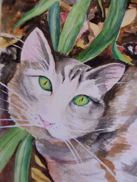 Cat From Galveston Painting by Michelle Fergenson