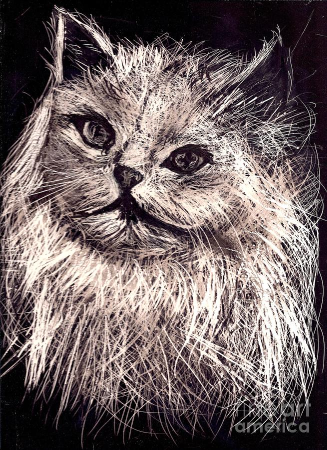 A Cat  Print  Painting - Cat Life by Leonor Shuber