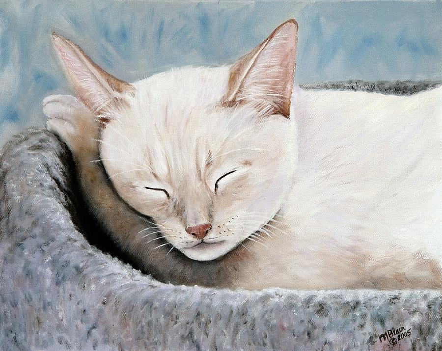 Pets Painting - Cat Nap by Merle Blair