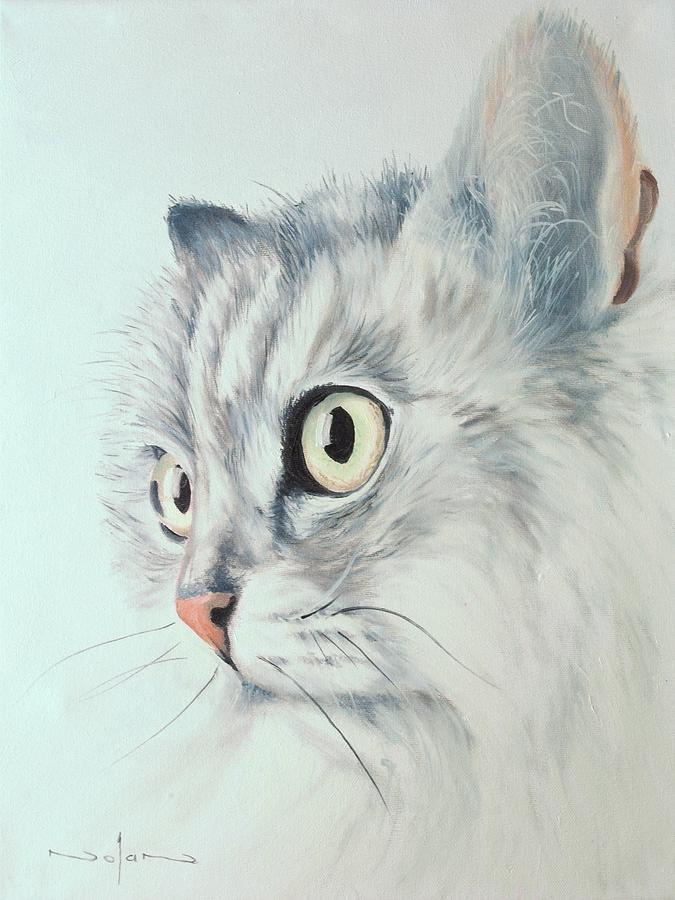 Oil Painting - Cat by Nolan Clark